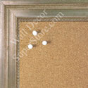 BB1576-2 Antique Champagne Silver - Large Wall Board Cork Chalk Dry Erase