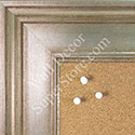 BB1578-2 Antique Champagne Silver - Extra Large Chalkboard Cork Dry Erase