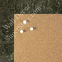 BB1580-2 Glossy Black Burlwood Look - Medium Custom Cork Chalk or Dry Erase Board