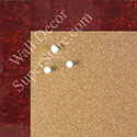 BB1580-3 Glossy Red Burlwood Look - Medium Custom Cork Chalk or Dry Erase Board