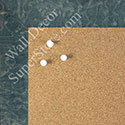 BB1580-4 Glossy Blue Burlwood Look - Medium Custom Cork Chalk or Dry Erase Board