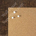 BB1580-6 Glossy Brown Burlwood Look - Medium Custom Cork Chalk or Dry Erase Board