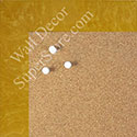 BB1580-7 Glossy Yellow Burlwood Look - Medium Custom Cork Chalk or Dry Erase Board