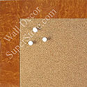 BB1580-8 Glossy Orange Burlwood Look - Medium Custom Cork Chalk or Dry Erase Board