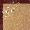 BB1581-3 Glossy Red Burlwood Look - Small Custom Cork Chalk or Dry Erase Board