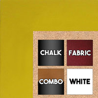 BB1586-1 Yellow - Extra Large Custom Cork Chalk or Dry Erase Board