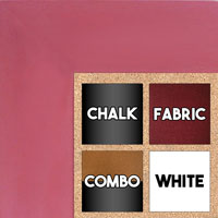 BB1586-4 Pink - Extra Large Custom Cork Chalk or Dry Erase Board