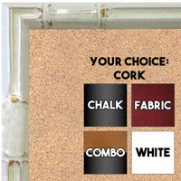 BB1612-2  White Enamel Bamboo Wallboard Corkboard Whiteboard Chalkboard