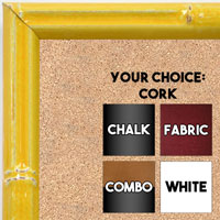 BB1612-4  Yellow Enamel Bamboo Wallboard Corkboard Whiteboard Chalkboard