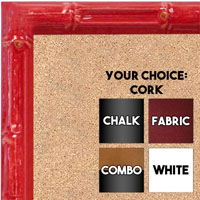 BB1612-5  Red Enamel Bamboo Wallboard Corkboard Whiteboard Chalkboard