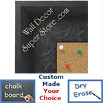 BB1613-2  Distressed Black Custom Wallboard Corkboard Whiteboard Chalkboard