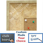 BB1613-4  Distressed Ivory Custom Wallboard Corkboard Whiteboard Chalkboard