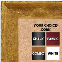 BB1614-1  Distressed Gold Custom Wallboard Corkboard Whiteboard Chalkboard