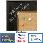 BB1615-1  Distressed Black Custom Wallboard Corkboard Whiteboard Chalkboard