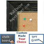 BB1615-2  Distressed Black Custom Wallboard Corkboard Whiteboard Chalkboard
