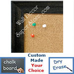 BB1616-1  Distressed Black | Custom Wallboard Corkboard Whiteboard Chalkboard