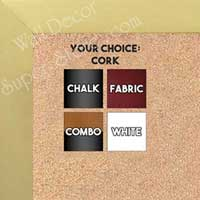BB1617-4   Brushed Antique Gold | Aluminum | Wallboard Corkboard Whiteboard Chalkboard