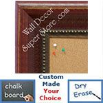 BB1625-1 | Distressed Red | Custom Cork Bulletin Board | Custom White Dry Erase Board | Custom Chalk Board