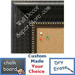 BB1625-2 | Distressed Black | Custom Cork Bulletin Board | Custom White Dry Erase Board | Custom Chalk Board