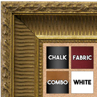 BB1626-2 | Gold | Custom Cork Bulletin Board | Custom White Dry Erase Board | Custom Chalk Board