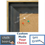 BB1631-1  Distressed Black | Custom Cork Bulletin Board | Custom White Dry Erase Board | Custom Chalk Board