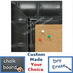 BB1657-1   Black Bamboo | Custom Cork Bulletin Board | Custom White Dry Erase Board | Custom Chalk Board