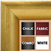 BB1659-1  Distressed Gold | Custom Cork Bulletin Board | Custom White Dry Erase Board | Custom Chalk Board