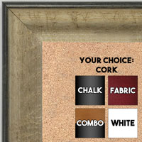 BB1662-2 | Crackle Silver / Black | Custom Cork Bulletin Board | Custom White Dry Erase Board | Custom Chalk Board