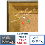 BB1663-1 | Crackle Gold / Black | Custom Cork Bulletin Board | Custom White Dry Erase Board | Custom Chalk Board