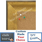 BB1664-1 | Crackle Gold / Black | Custom Cork Bulletin Board | Custom White Dry Erase Board | Custom Chalk Board