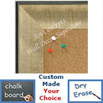 BB1664-2 | Crackle Silver / Black | Custom Cork Bulletin Board | Custom White Dry Erase Board | Custom Chalk Board