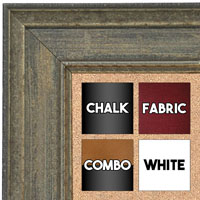 BB1669-1 | Distressed Gray | Custom Cork Bulletin Board | Custom White Dry Erase Board | Custom Chalk Board