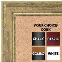 BB1671-2 | Distressed Ivory | Custom Cork Bulletin Board | Custom White Dry Erase Board | Custom Chalk Board