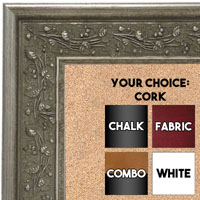 BB1680-2 | Silver | Custom Cork Bulletin Board | Custom White Dry Erase Board | Custom Chalk Board