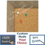 BB1684-1 | Distressed Ivory | Custom Cork Bulletin Board | Custom White Dry Erase Board | Custom Chalk Board