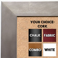BB1689-2 | Silver / Cube Moulding | Custom Cork Bulletin Board | Custom White Dry Erase Board | Custom Chalk Board