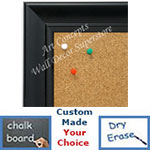 BB1690-1 | Black | Custom Cork Bulletin Board | Custom White Dry Erase Board | Custom Chalk Board