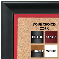 BB1690-4 | Black / Red | Custom Cork Bulletin Board | Custom White Dry Erase Board | Custom Chalk Board