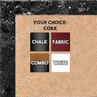 BB1691-1 | Glossy Black / Design | Custom Cork Bulletin Board | Custom White Dry Erase Board | Custom Chalk Board