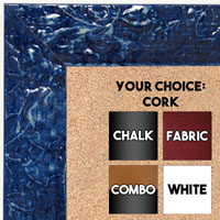BB1692-8 | Glossy Blue / Design | Custom Cork Bulletin Board | Custom White Dry Erase Board | Custom Chalk Board