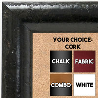 BB1693-2 | Black Burl Moulding | Custom Cork Bulletin Board | Custom White Dry Erase Board | Custom Chalk Board
