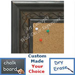 BB1698-2 | Distressed Black | Custom Cork Bulletin Board | Custom White Dry Erase Board | Custom Chalk Board