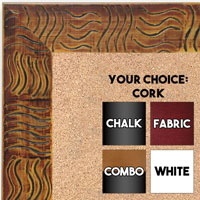 BB1702-5 | Walnut / Black / Design | Custom Cork Bulletin Board | Custom White Dry Erase Board | Custom Chalk Board