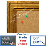 BB1707-3 | Distressed Gold Scoop Moulding | Custom Cork Bulletin Board | Custom White Dry Erase Board | Custom Chalk Board