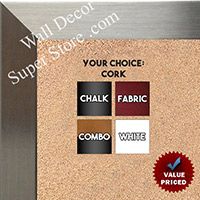 BB1708-1 | Stainless Steel Look - Mica Finish - Moulding| Custom Cork Bulletin Board | Custom White Dry Erase Board | Custom Chalk Board