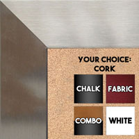 BB1708-3 | Stainless Steel Look - Mica Finish - Moulding | Custom Cork Bulletin Board | Custom White Dry Erase Board | Custom Chalk Board