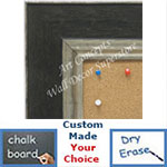 BB1719-4 | Distressed Black / Silver | Custom Cork Bulletin Board | Custom White Dry Erase Board | Custom Chalk Board