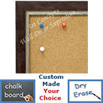 BB1720-2 | Distressed Red / Silver | Custom Cork Bulletin Board | Custom White Dry Erase Board | Custom Chalk Board