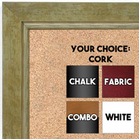 BB1720-3 | Distressed Green / Silver | Custom Cork Bulletin Board | Custom White Dry Erase Board | Custom Chalk Board