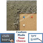 BB1729-1 | Distressed - Silver Stone Look - Moulding | Custom Cork Bulletin Board | Custom White Dry Erase Board | Custom Chalk Board